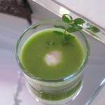 空豆のクーリー 鶉の温泉卵と