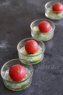 ブログ2017 大野さん 美肌レシピ 中華風トマトのジュレ縦